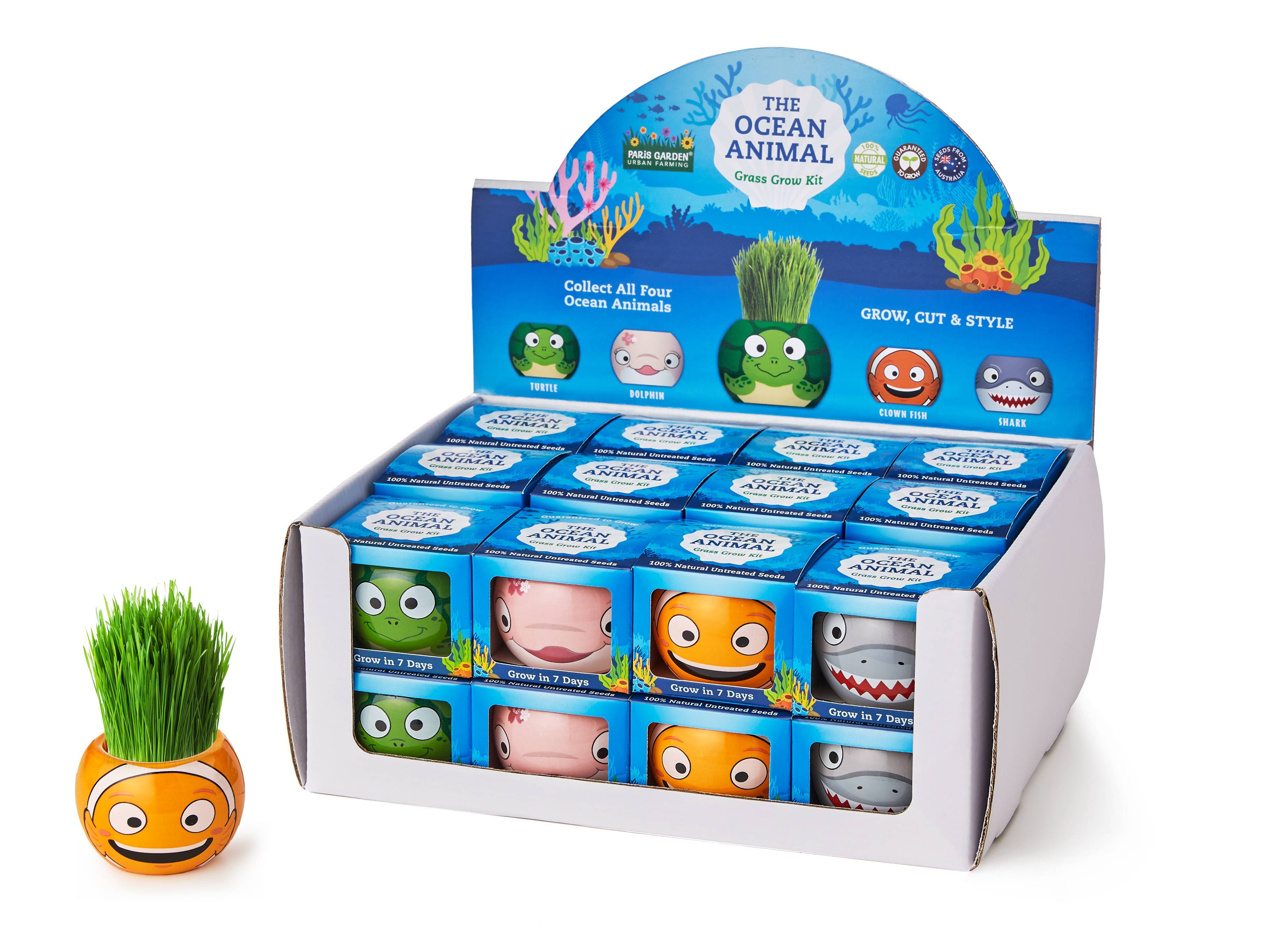 Grass Hair Kits Ocean Animals
